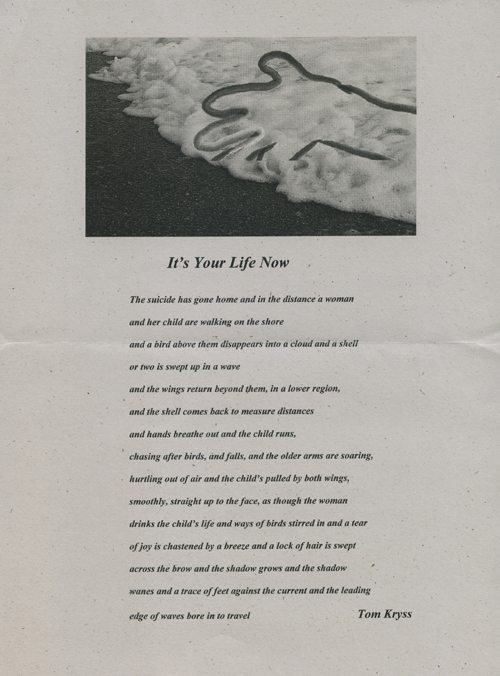 Tom Kryss | It's Your Life Now | click the image to enlarge...